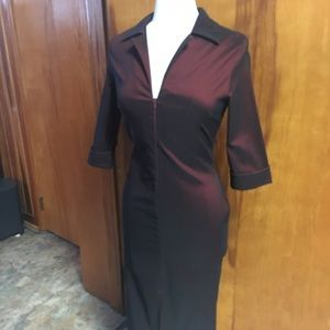 Sky David Park Red Black Bodycon Dress Small NEW